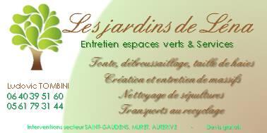 Carte De Visite Jardin Lena
